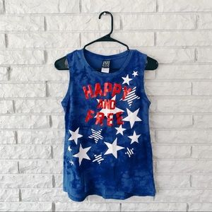 Modern Lux Happy and Free Tie Dye tank top
